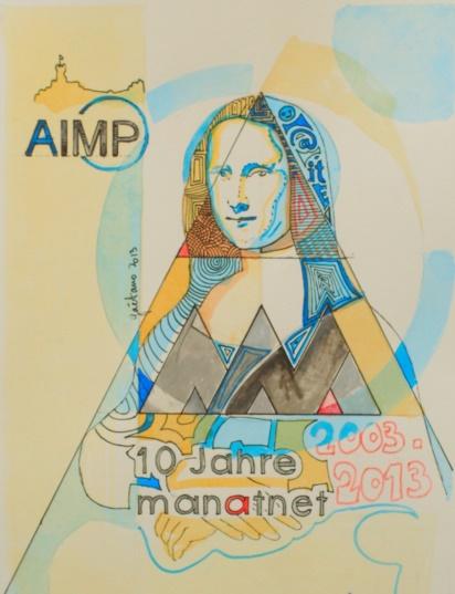 AIMP Urkunde zum 10-jährigen Jubiläum von MANATNET gestalter von Gaetano Groß