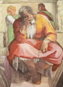 Michelangelo_Buonarroti_Jeremia_Sixtinische_Kapelle_Rom